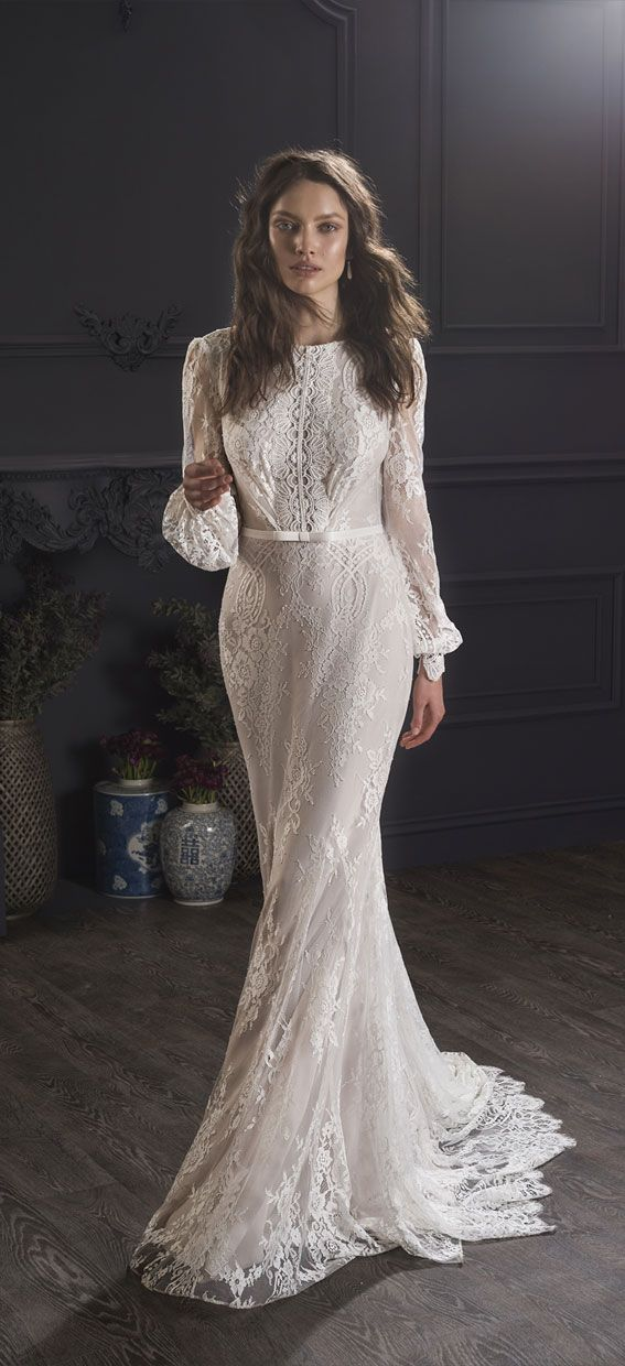 Long-sleeved wedding gown - Lihi Hod 2019 Wedding Dresses #weddingdress #weddinggown