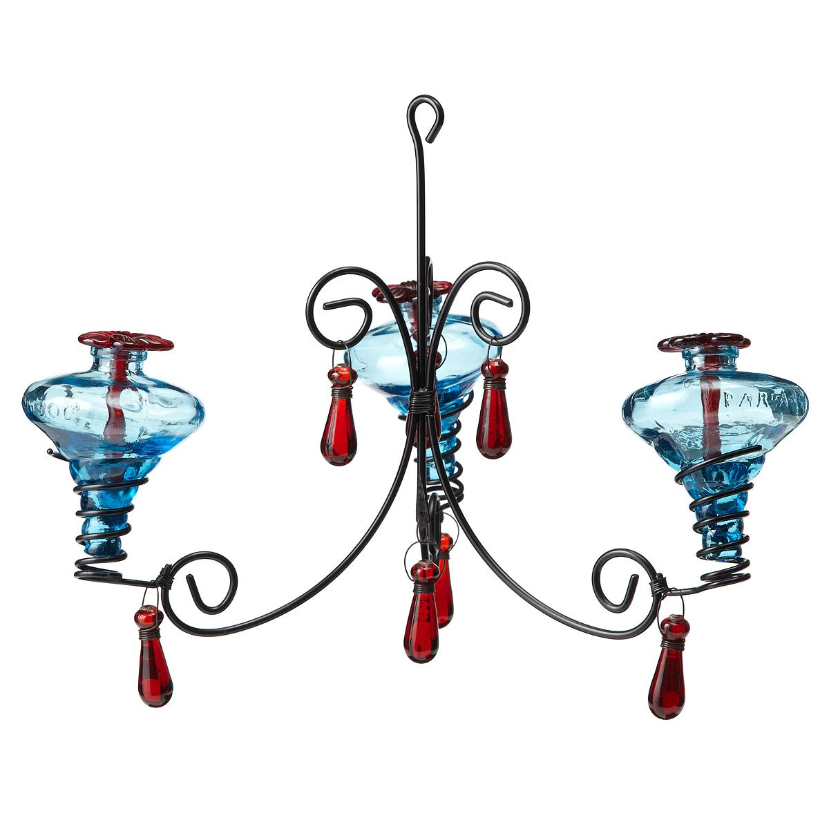 Chandelier Hummingbird Feeder Recycled Glass, Mexico
