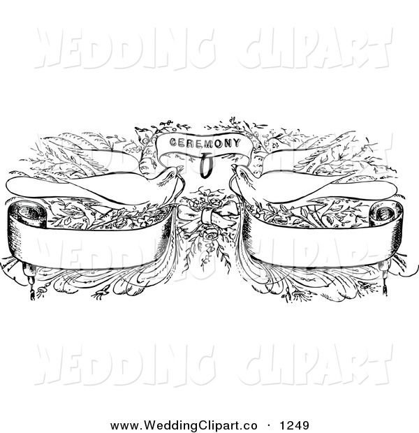 Wedding Ceremony Clipart Black And White