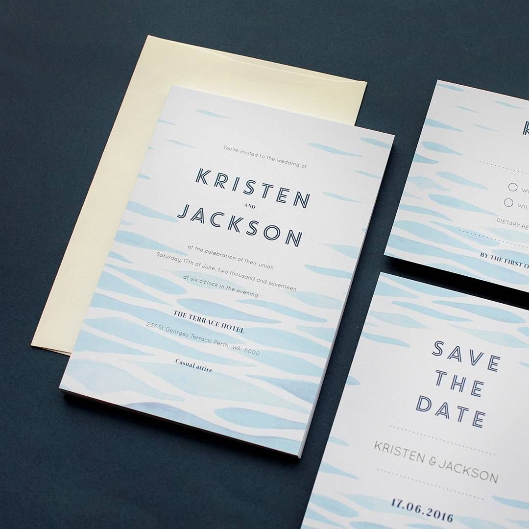 Clear Blue - Invitations | Invitation design, Wedding and Reception