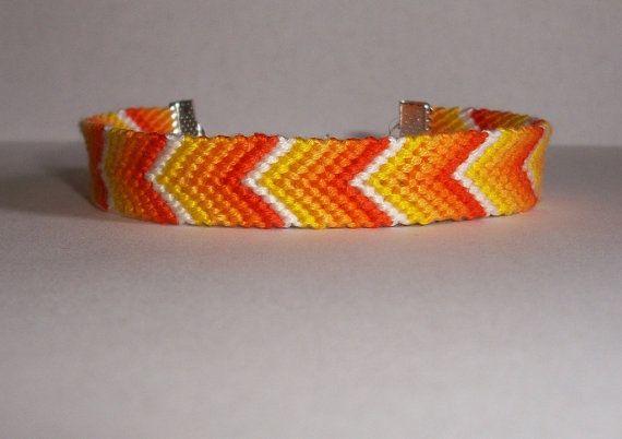 Friendship bracelet Orangeyellow