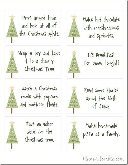 Free Printables 24 Advent Calendar Ideas To Do With Your Family Followpics