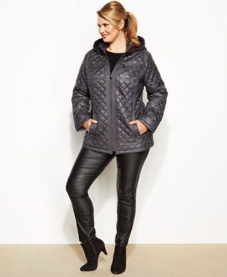 Laundry By Design Plus Size Hooded Quilted Puffer Coat Puffer Coat Coats For Women Plus Size Coats