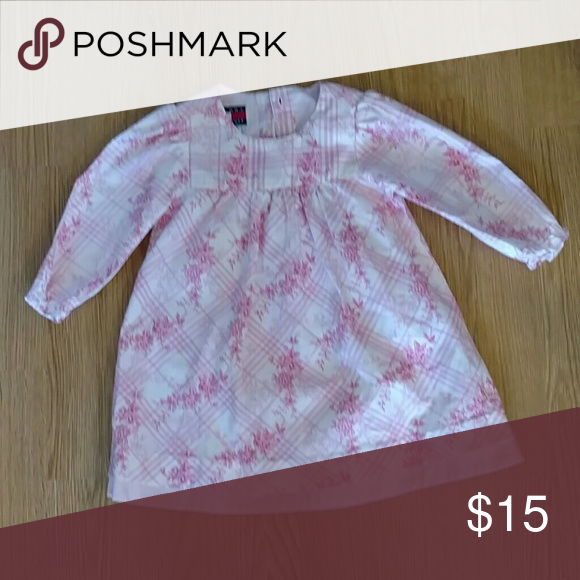Tommy Hilfiger baby girls dress Pink and white floral dress.  Delicate and dainty Tommy Hilfiger Dresses