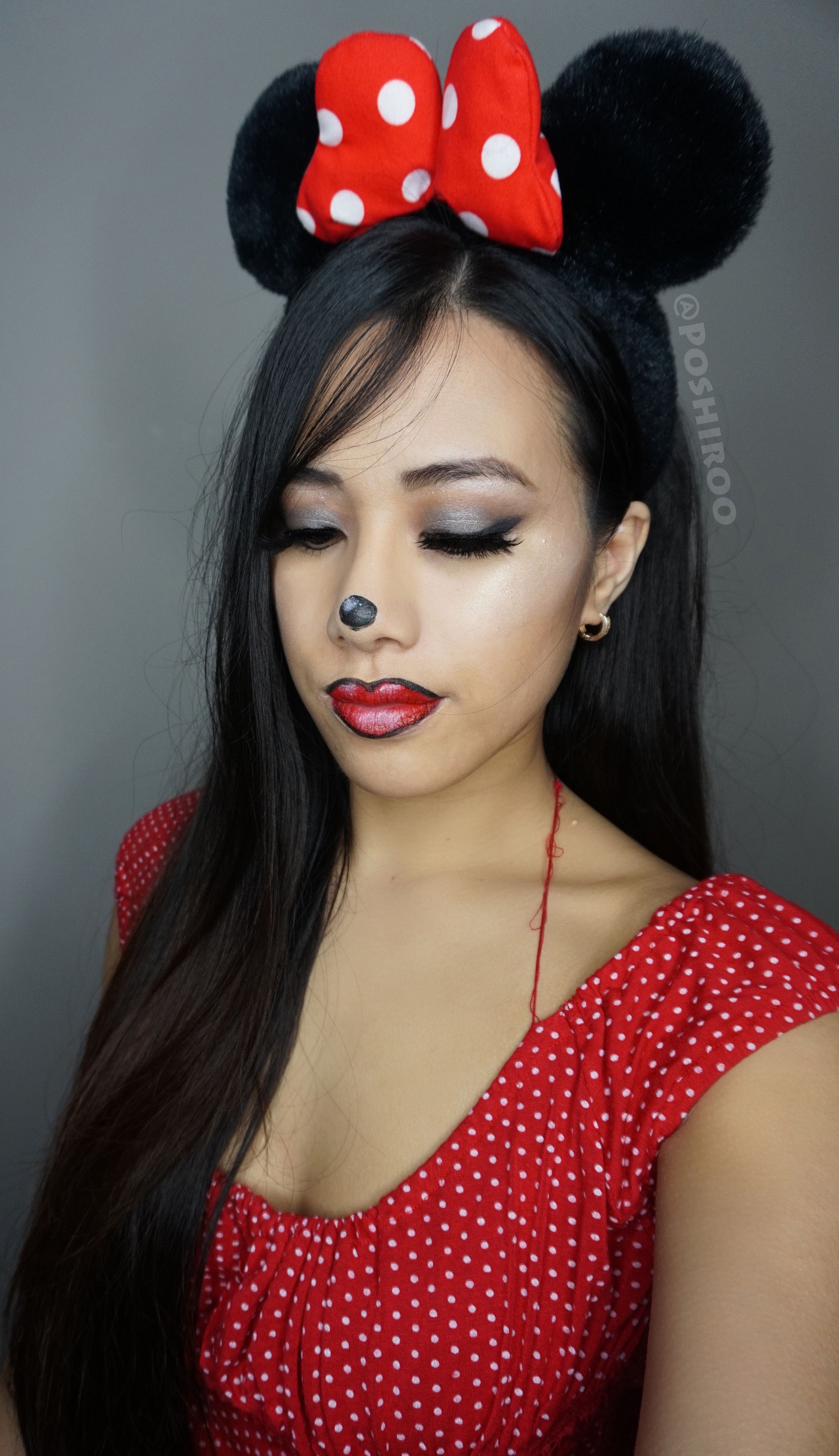 Cute Minnie Mouse Easy Step By Makeup Tutorial For