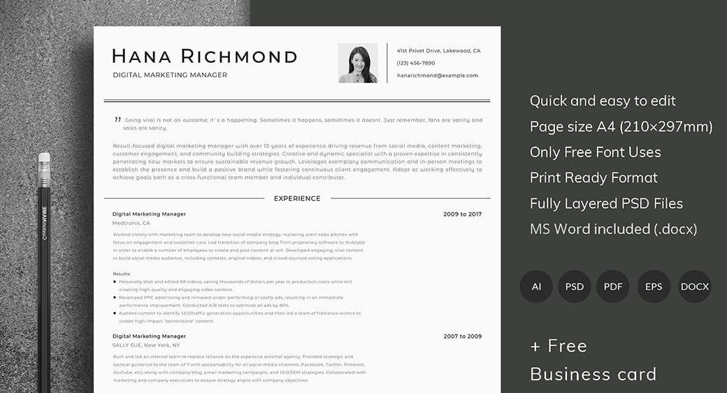 Ats friendly resume template format guide sample cv