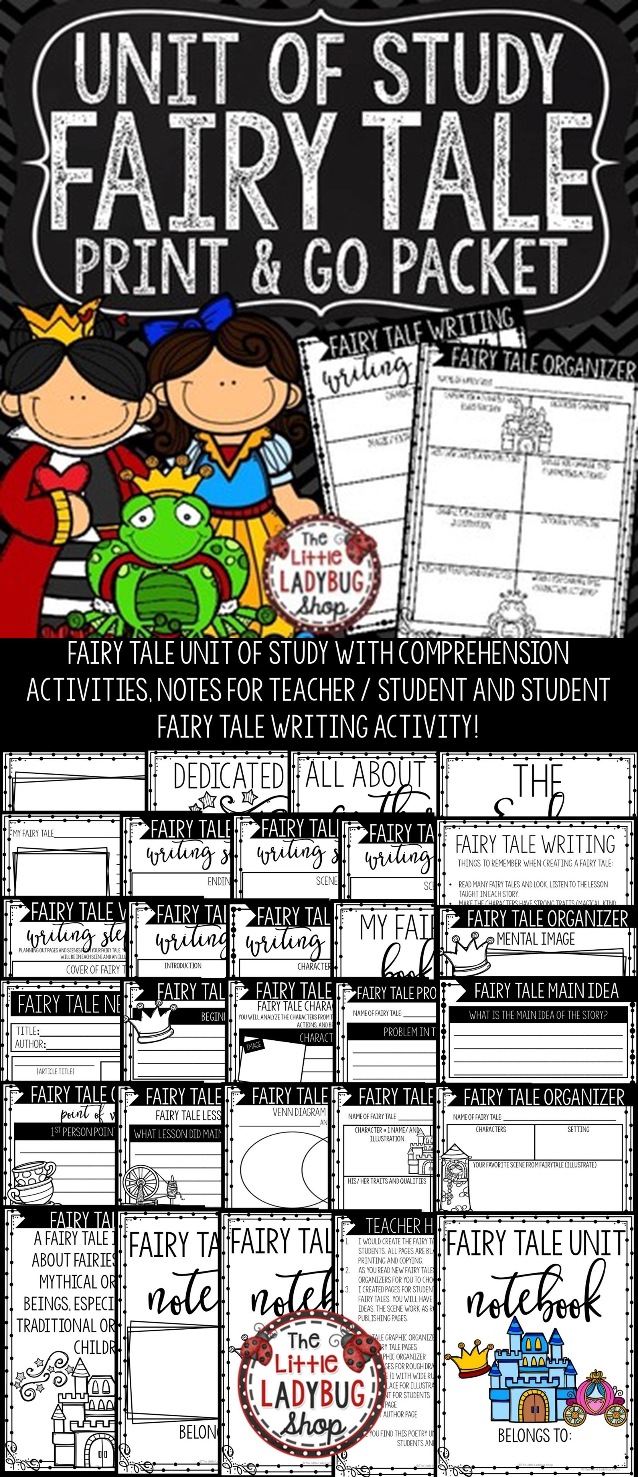 Fairy Tale Writing Graphic Organizers For Any Story Fairy