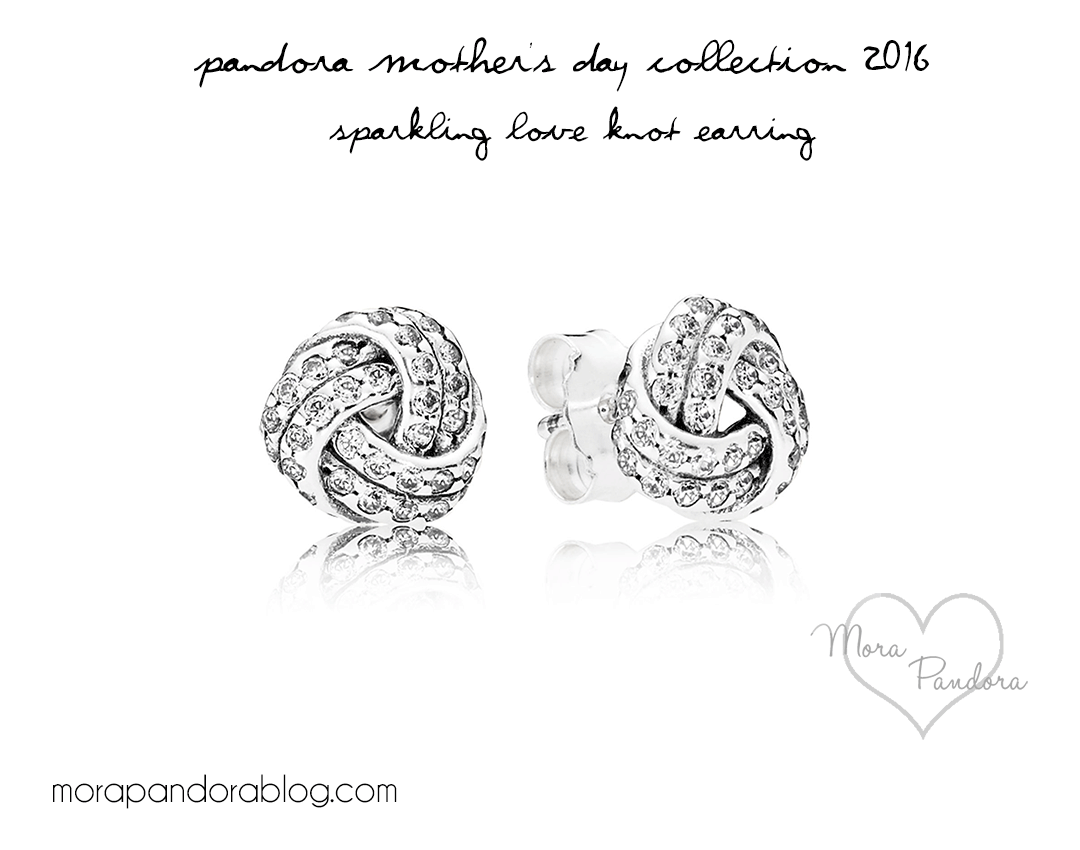 pandora mother's day 2016 sparkling love knot earrings