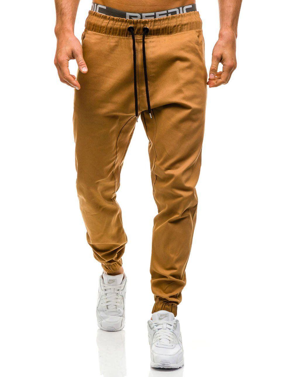 Men Joggers 2018 New Casual Pants Men Brand Clothing High Quality Spring  Long Khaki Pants Elastic Male Trousers 3XL NZ317 2921bde0dda