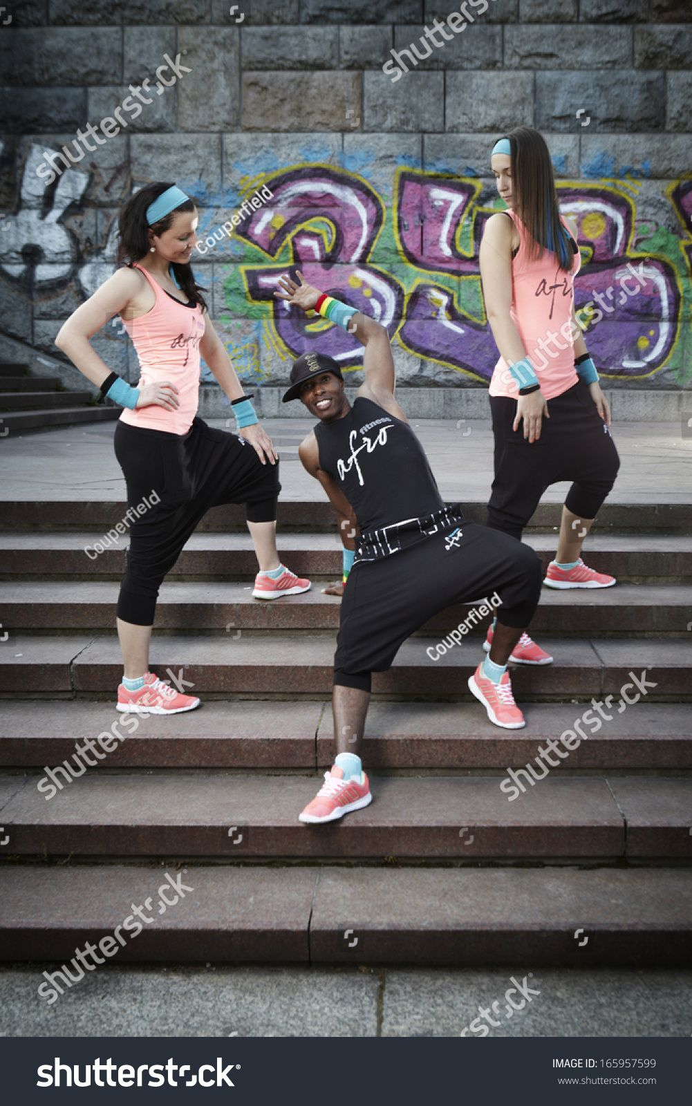 Three people exercising outdoor #Ad , #ad, #people#exercising#outdoor