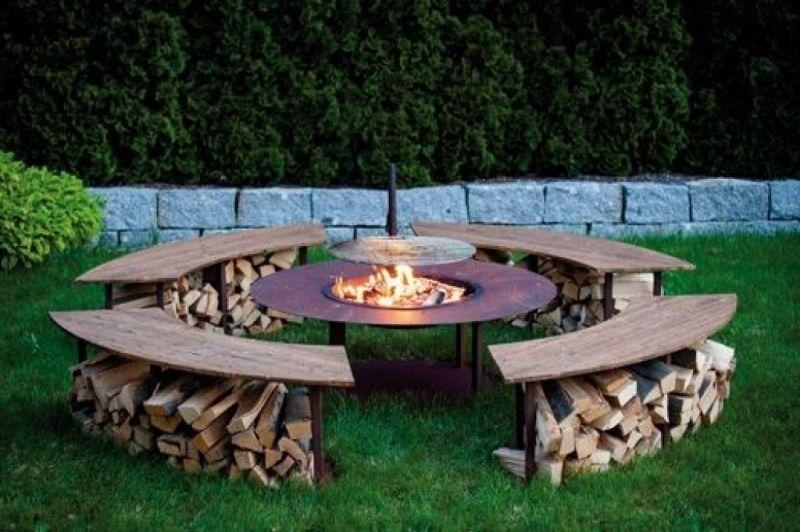 Pin Von Lea Baselt Auf Holzmobel In 2020 Feuerstelle Garten Feuerschalen Garten Feuerstelle