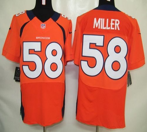 Nike Broncos  58 Von Miller Orange Team Color Men s Embroidered NFL Elite  Jersey! 25.00USD 07ad555b9