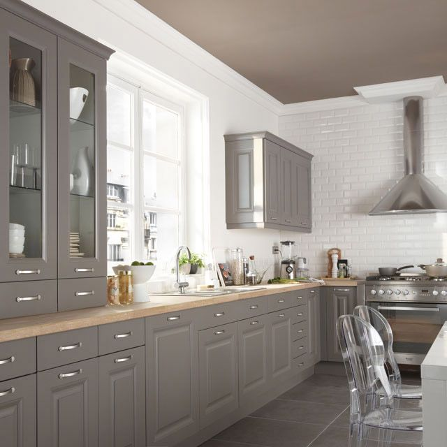 cuisine cooke lewis candide gris taupe castorama r novation cuisine pinterest. Black Bedroom Furniture Sets. Home Design Ideas