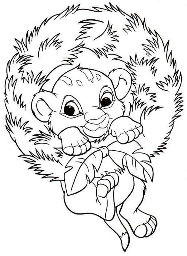 Dibujos Para Colorear De Navidad Disney Hojas De Navidad Para Colorear Leon Para Colorear Páginas Para Colorear De Navidad
