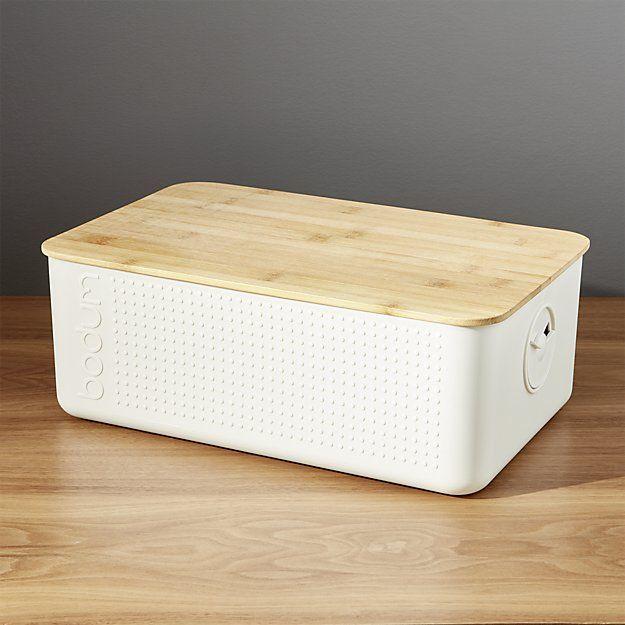 Bodum White Bread Box Bread Boxes Food Storage Containers