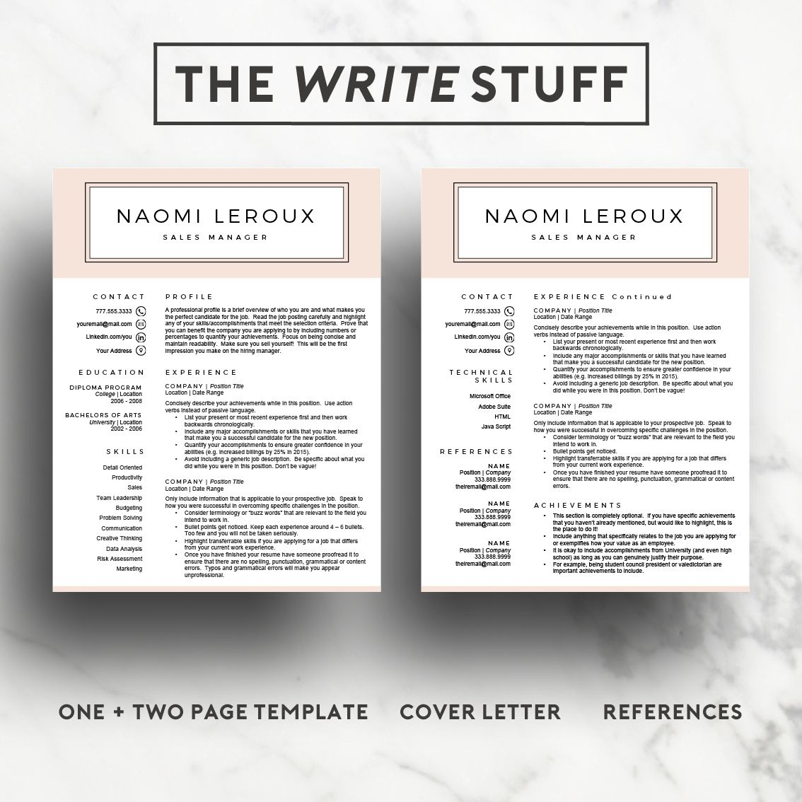 Creative Resume Template for 15.00 available from