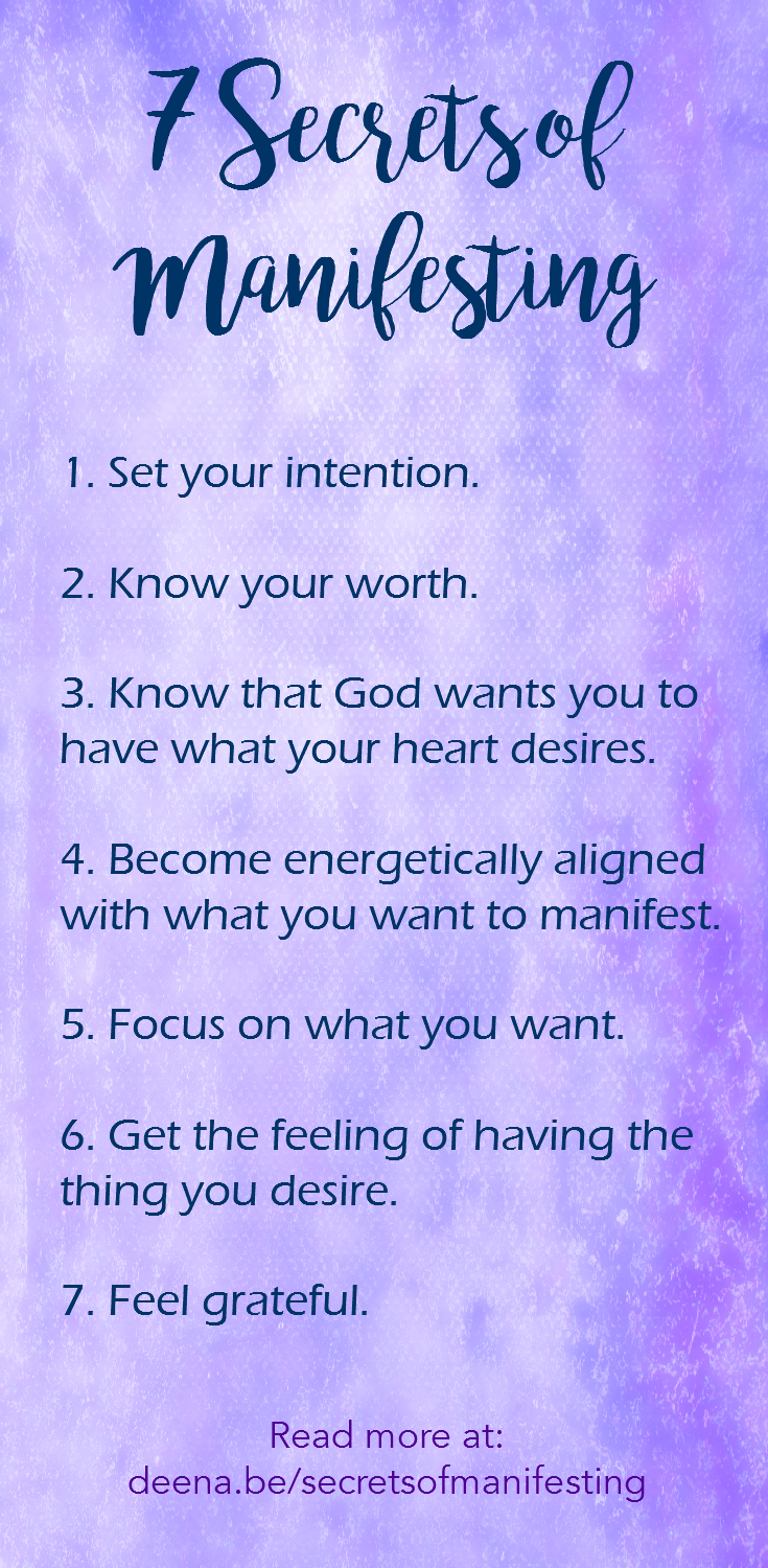 7 Secrets of Manifesting. Create the life you desire and make the Law of Attraction work for you!