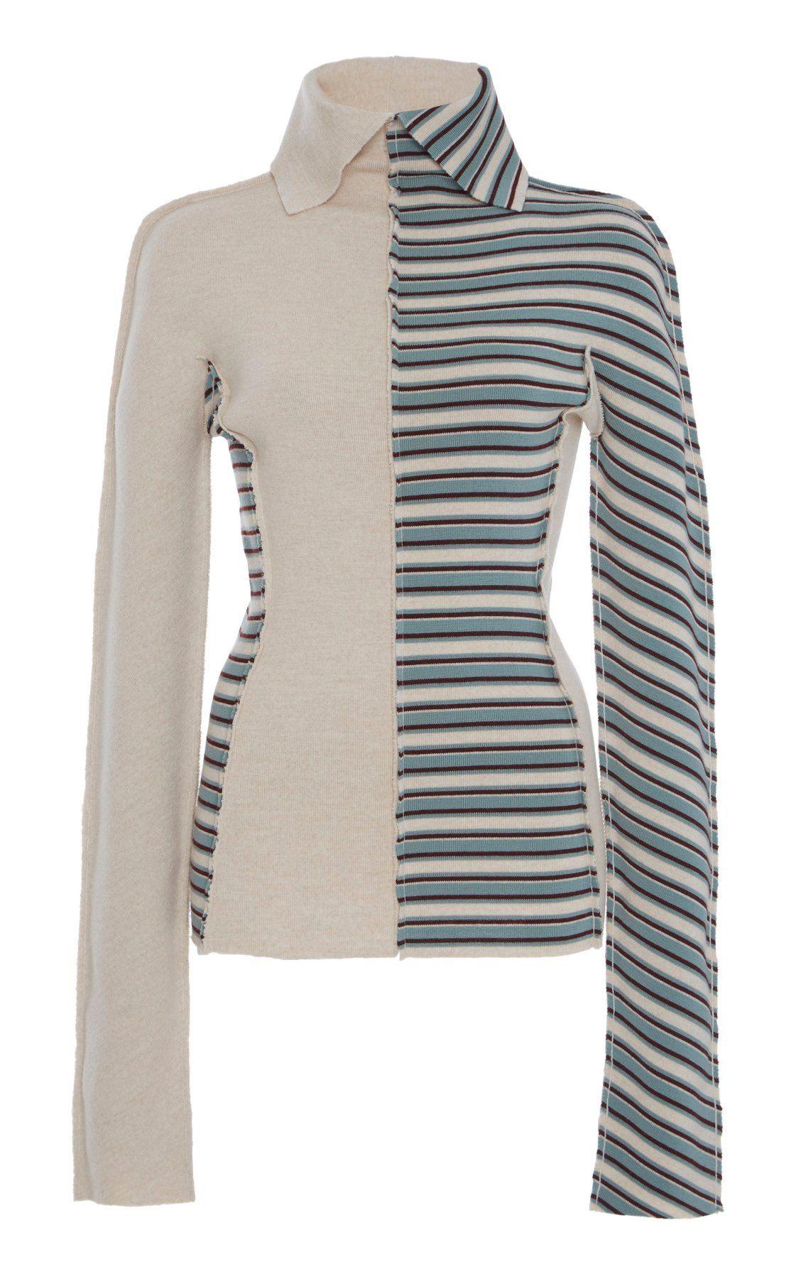 Wool Striped Sweater Sander Moda Jil Operandi By Pf19 TPaBqPAwx