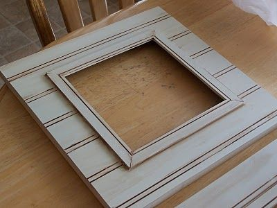 Beadboard Picture Frames Craft Ideas Pinterest Diy Frame And