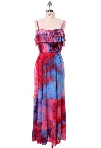 Aurora Maxi Dress with Ruffle Detail