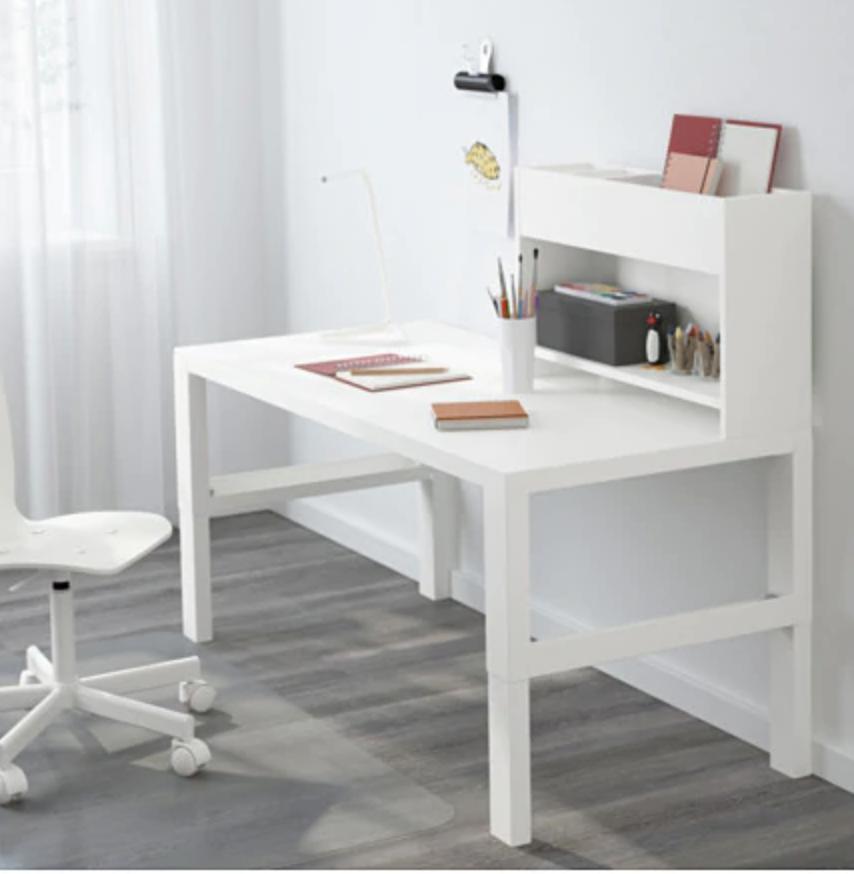 "PÅHL Desk with addon unit white 50 3/8x22 7/8 "" Ikea"