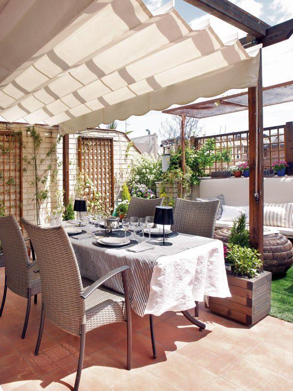 Ideas para decorar la terraza columnas macetas y terrazas for Ideas para decorar terrazas