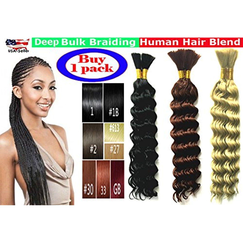 Deep bulk braiding hair human hair blend micro braids hot