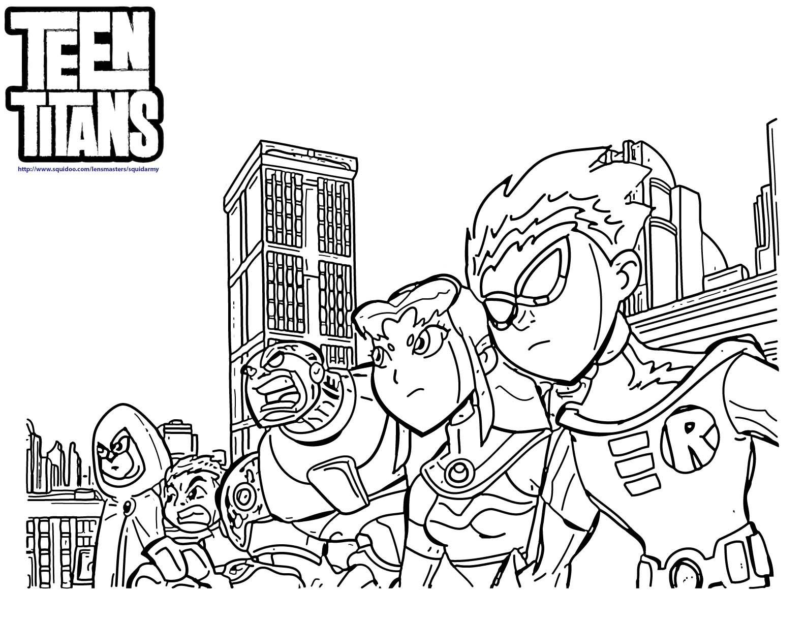 Teen Titans Coloring Page Teen Titans Pinterest Teen titans