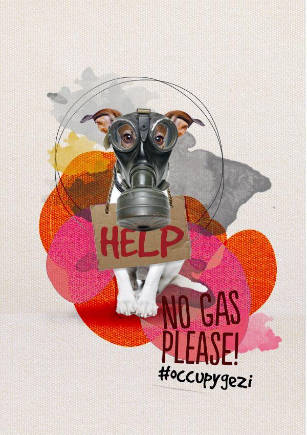 no gas please! - occupy by Selman HOŞGÖR, via Behance