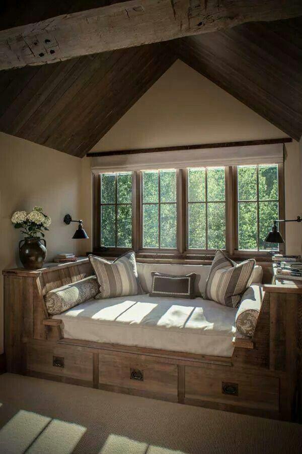 Beste Raamdecoratie Keuken : Cozy Rustic Reading Nook