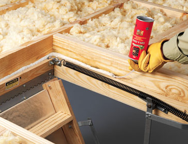 Tip insulate the gap between your attic hatch doorframe