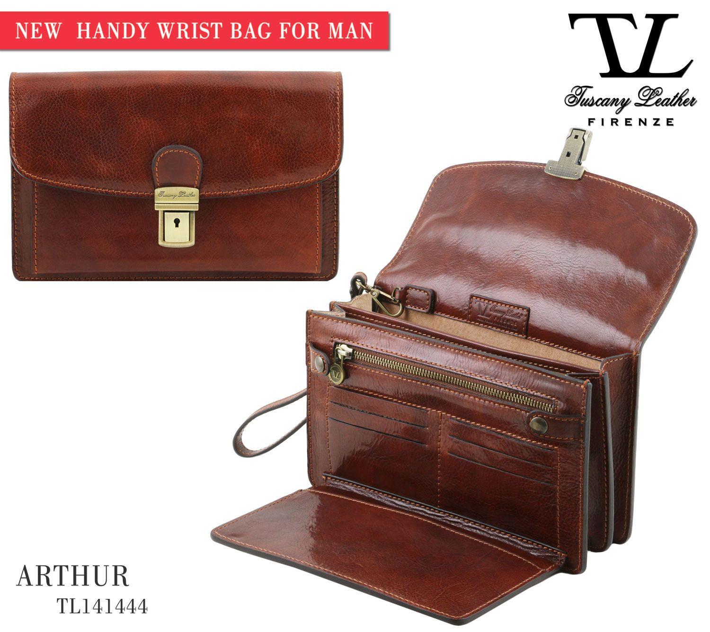 b6336f92f90f Exclusive leather handy wrist bag for man - Brown   Stylish Fashion ...