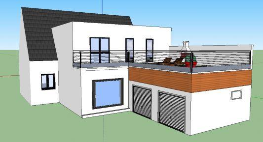 extension toit terrasse extension de maison Pinterest Extensions