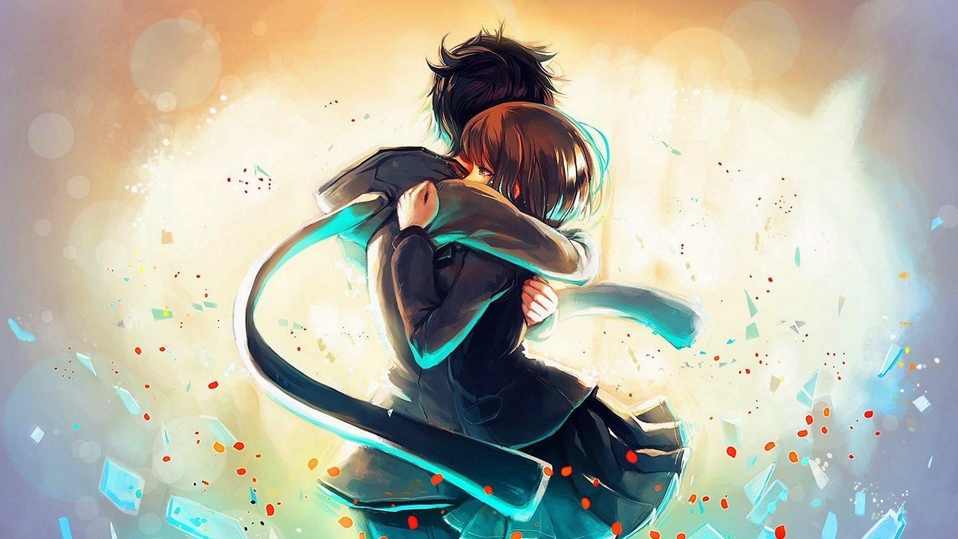 Anime Boy Girl Hug 1920x1080 Wallpaper Ololoshenka Pinterest
