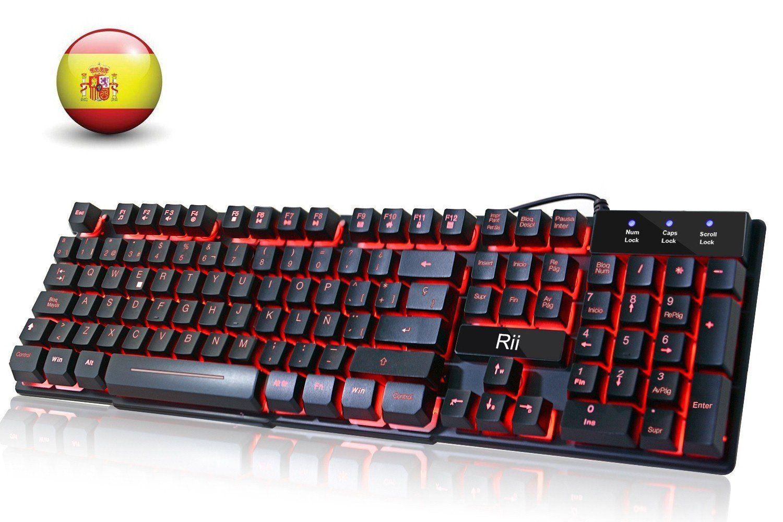 LESHP Teclado Mecánico Gaming con Disposición Española