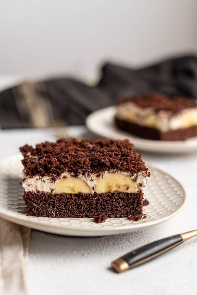 Maulwurfkuchen Schnitten   LECKER&Co   Foodblog aus Nürnberg #savourycake