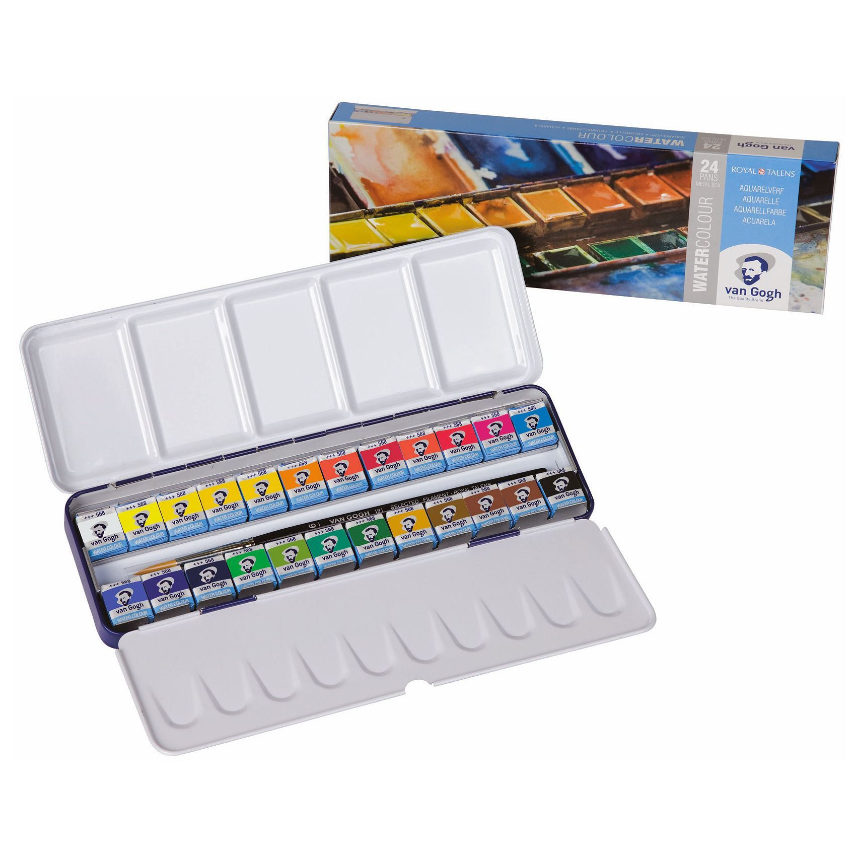 Van Gogh Water Colour Set Artists Watercolour Paint Palette Pans