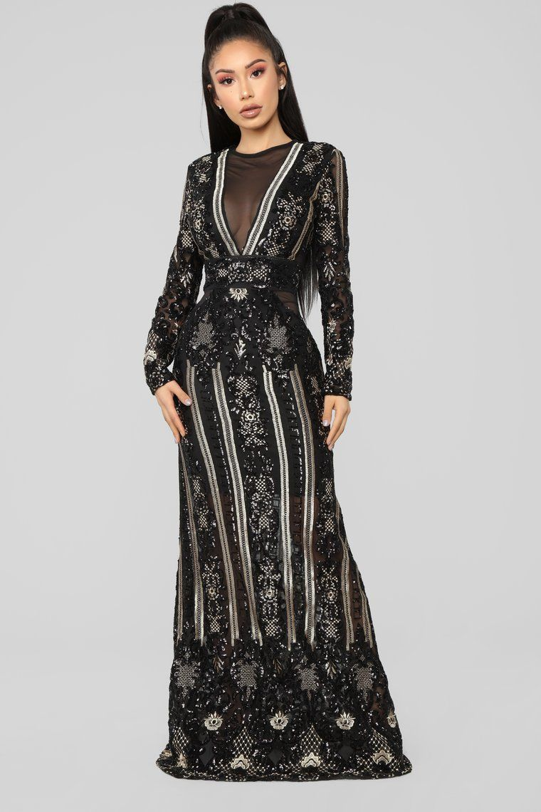 6b72d40a384c Presence Of Royalty Maxi Dress - Black/Gold | Fashion & Style ...