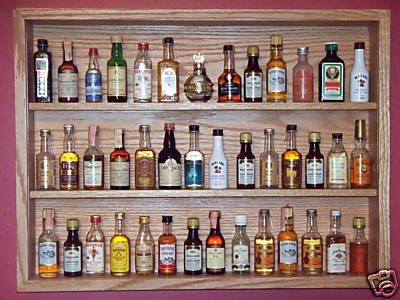 Liquor Bottle Display Cabinet