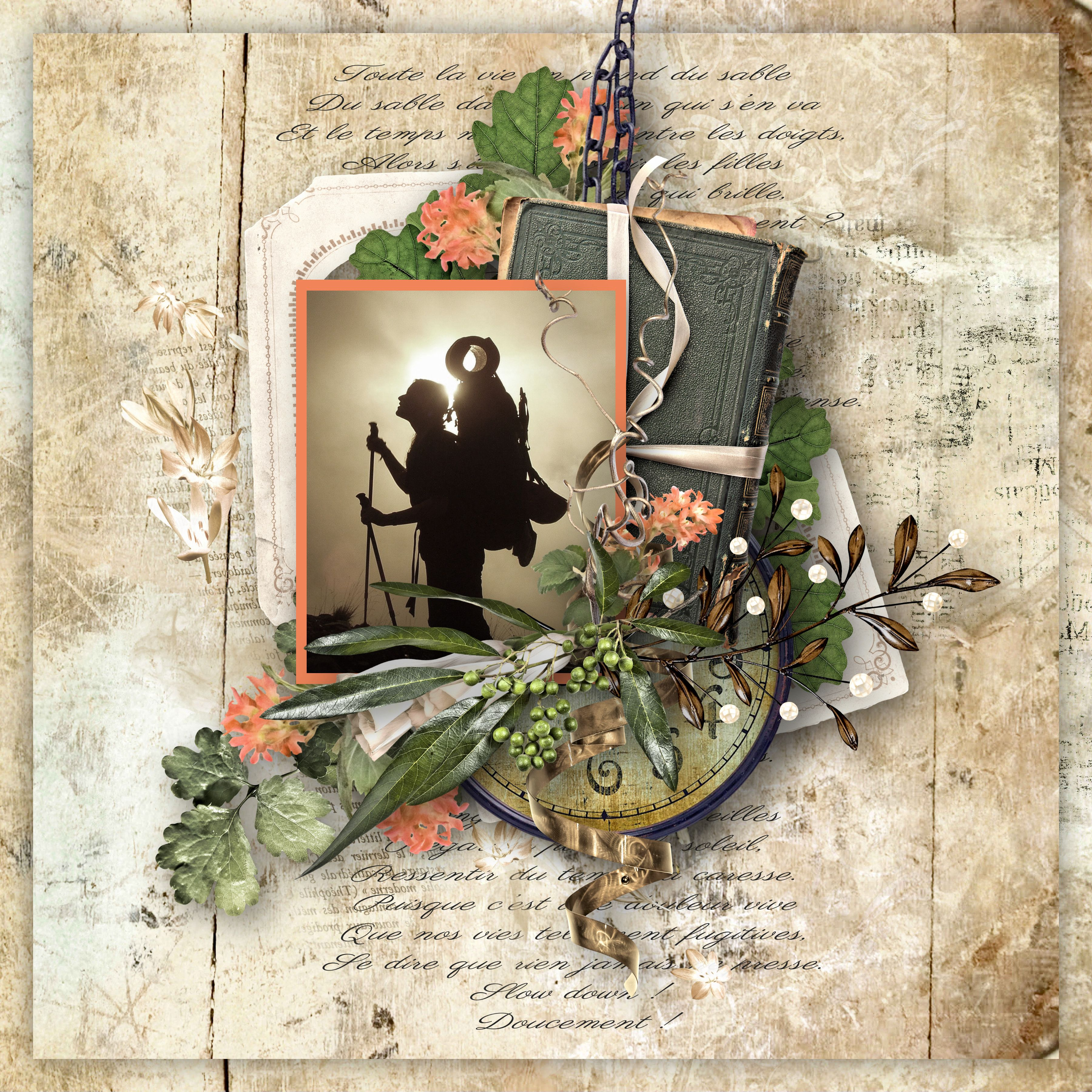 """""""Time Travel"""" by Doudou's Designs, https://www.etsy.com/fr/listing/529361229/time-travel-digital-scrapbooking-kit?ref=shop_home_feat_1, photo Pixabay"""