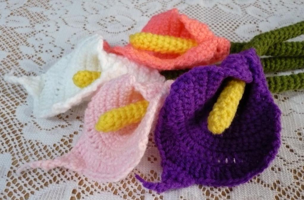 Calla Lily Flower Crochet Pattern Pattern Pictures Free Crochet