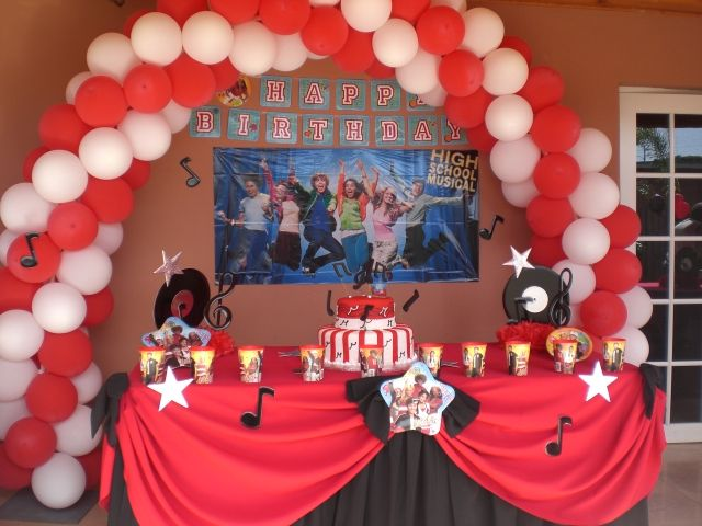 Music Themed Party Decorations Ideas Part - 49: Music Party Ideas | High School Musical Party Decoration (13)