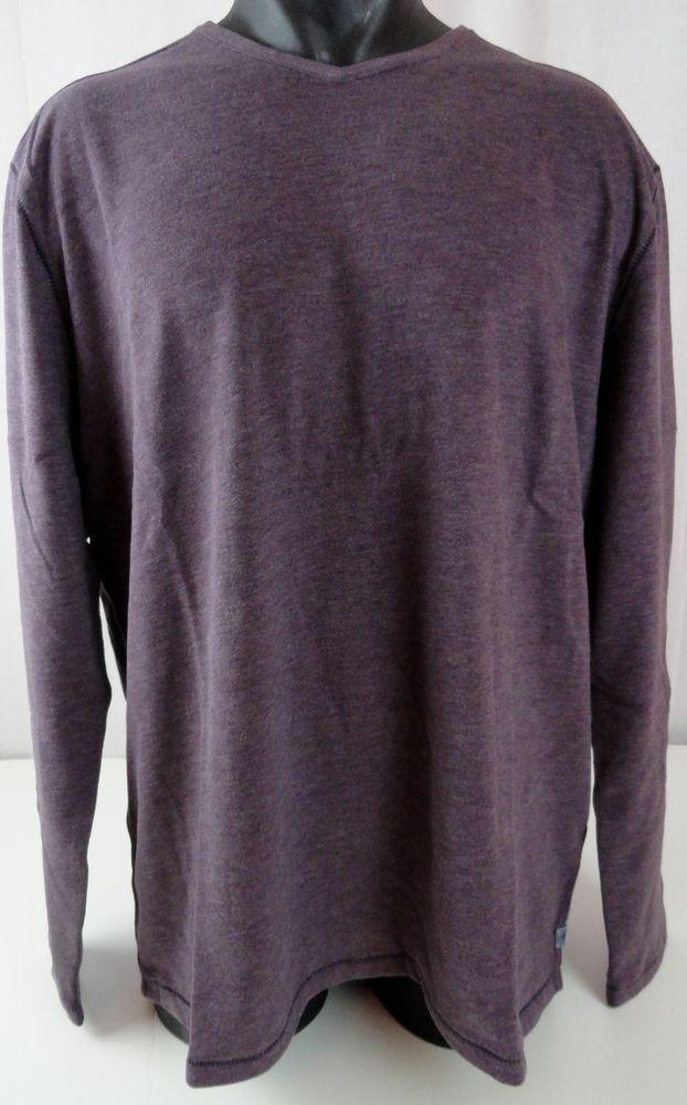 NWT Tommy Bahama Mens XL LS T Shirt Sedona Sands V Neck Purple Modal Blend Relax #TommyBahama #VNeckTShirt