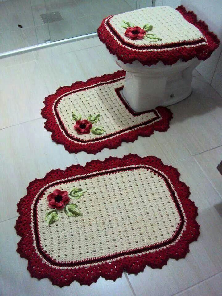 Jogo de banheiro quadrado simples