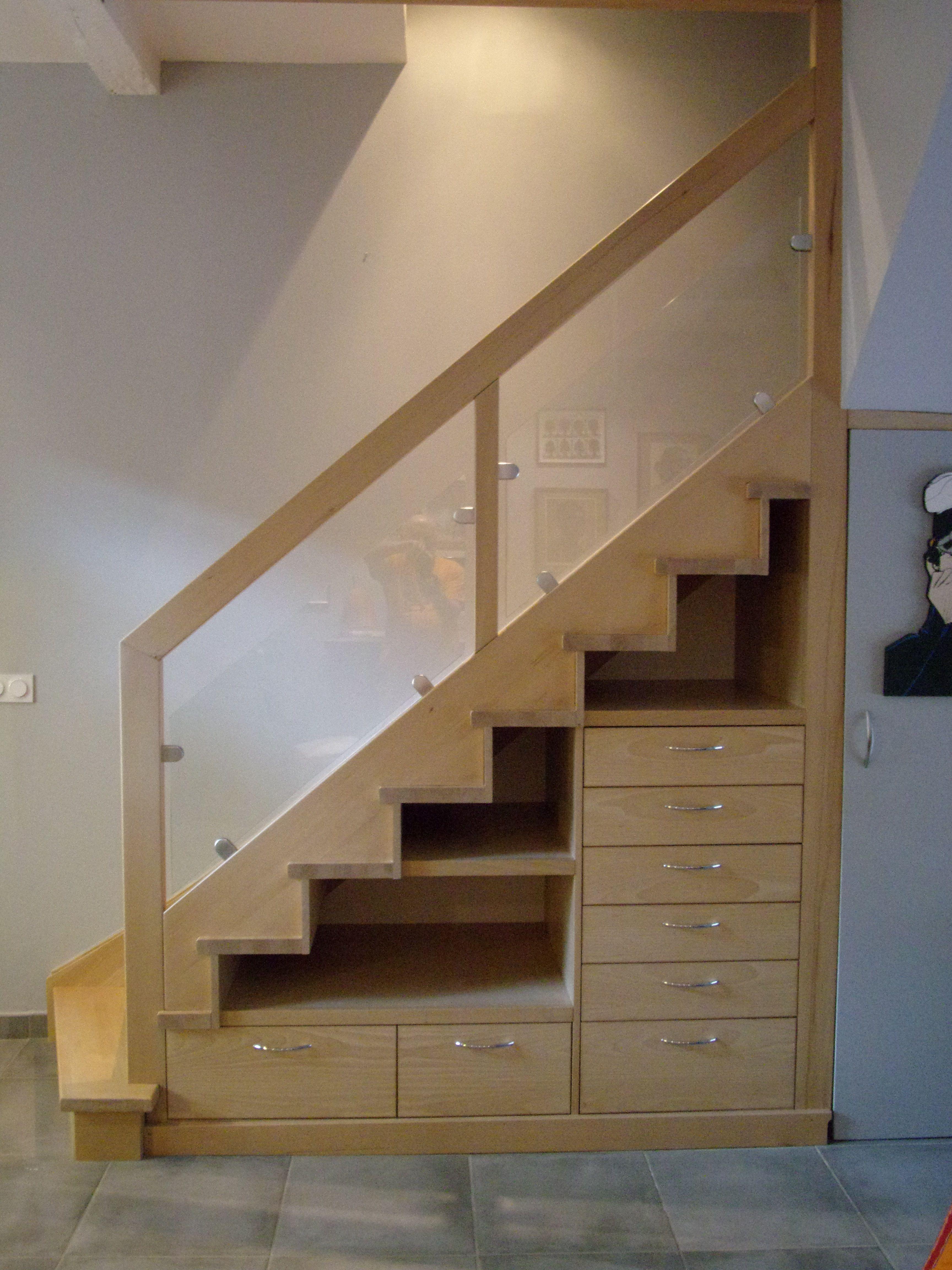 Escalier En Bois Avec Rangement Épinglé sur stairs