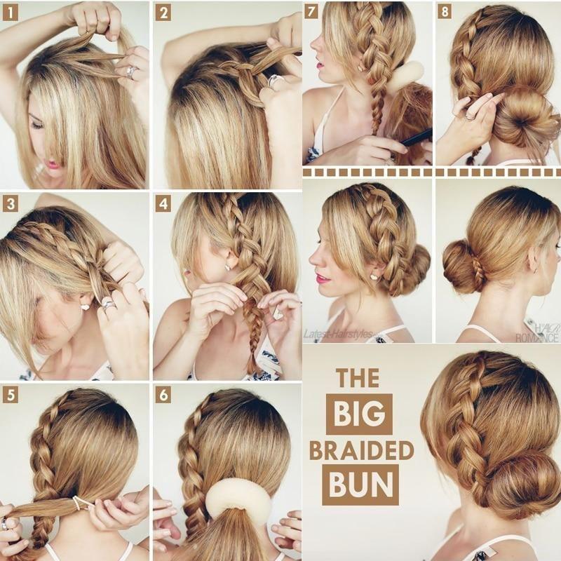 Hair Bun Maker Donut Magic Foam Sponge Easy Big Ring Hair Styles Womens Hairstyles Braided Bun