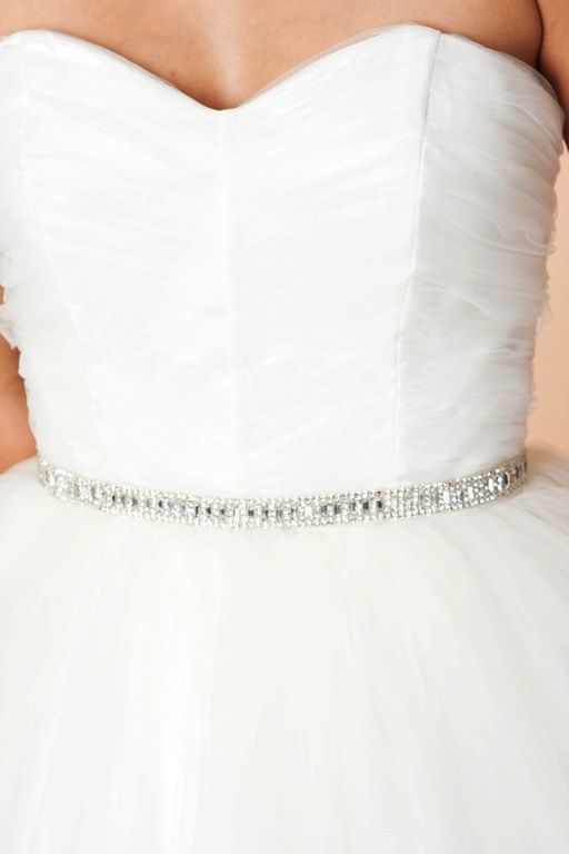 Maya Rhinestone Baguette Sash Wedding Bridal Belt