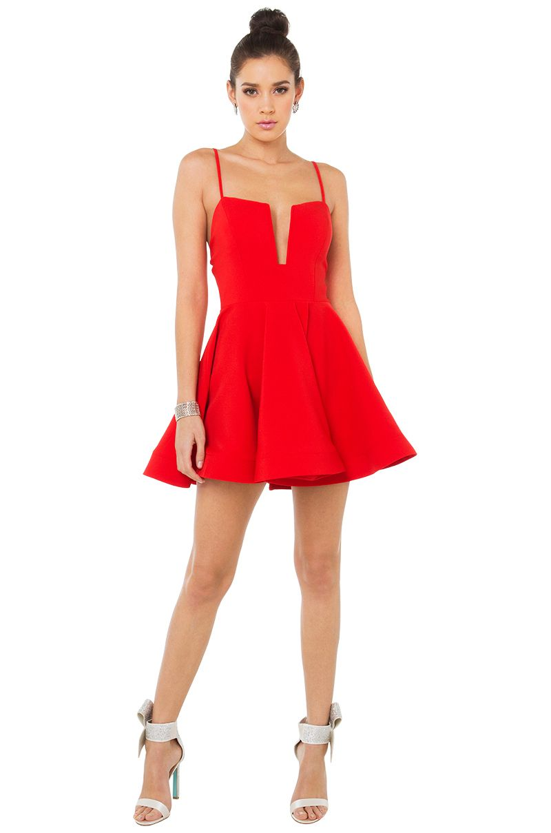 sexy red skater mini dress | going out dresses | akira | clothes