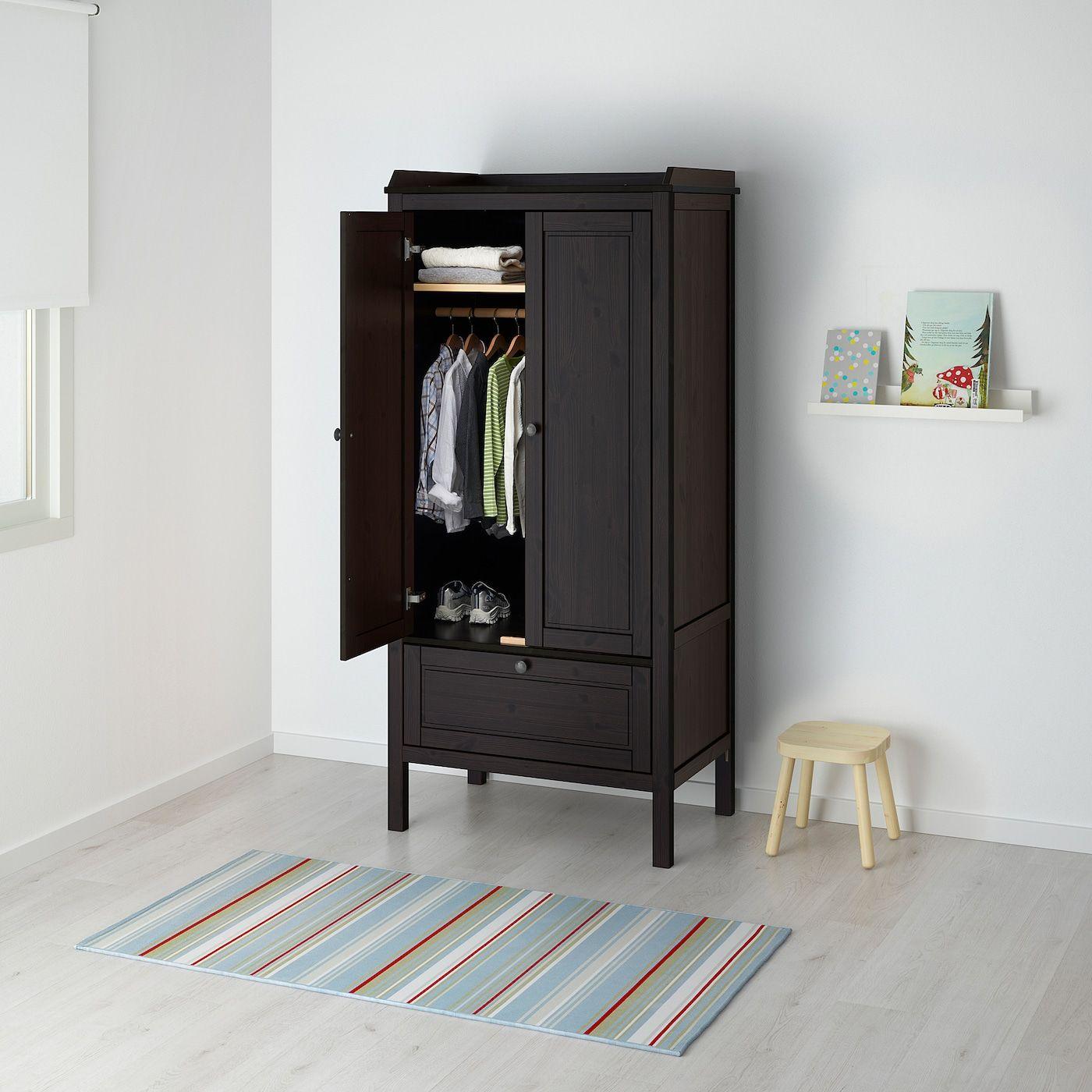 Sundvik Wardrobe Black Brown 31 1 2x19 5 8x67 3 8 In 2020