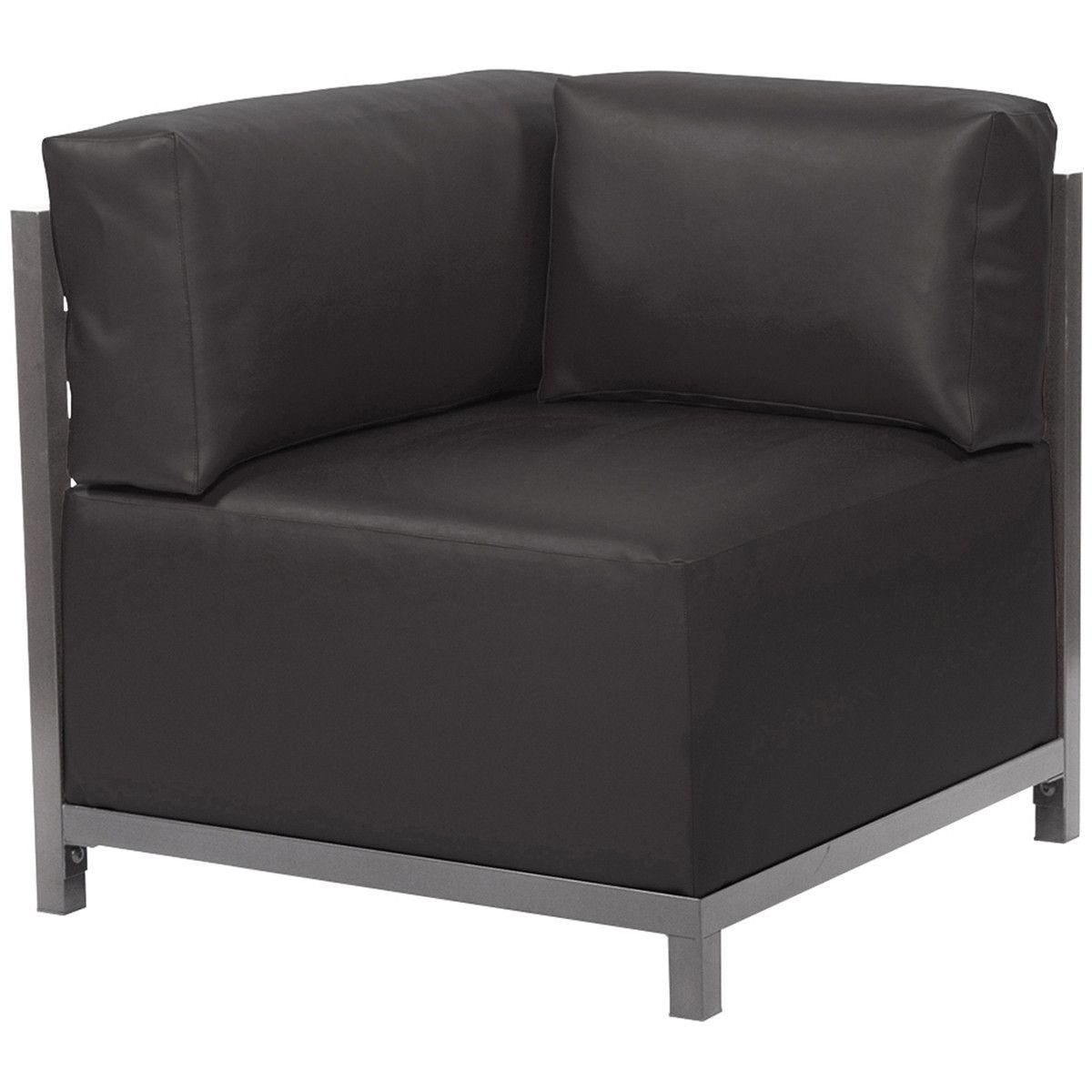 Howard Elliott Atlantis Black Axis Corner Chair Slipcover